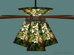 Stained Glass Ceiling Fan Light Shades Nouveau Deco Ceiling Fan Glass L Shades