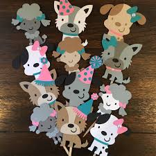 puppy party supplies puppy dog cupcake toppers puppy party dog adoption party puppy