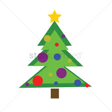 free christmas tree on white background vector image 1237016