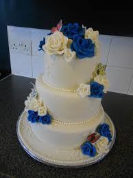 wedding cake royal blue my wedding cake ivory royal blue cake by nicolascakes