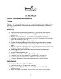 Sample Resume Of Caregiver For Elderly by Receptionist Job Description Resume Sample Resume For Your Job
