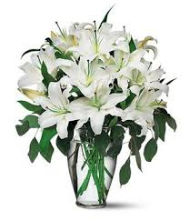 Lily Bouquet Perfect White Lilies Gorgeous Lily Bouquet Fromyouflowers Com