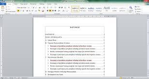 cara membuat garis pada daftar isi makalah cara membuat titik titik daftar isi otomatis di microsoft word youtube