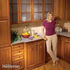 Handyman Kitchen Cabinets Kitchen Cabinets 9 Easy Repairs Family Handyman