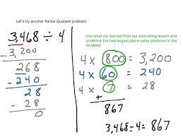 showme partial quotient division for 4th grade