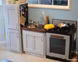 Kitchen Oven Cabinets From Old Cabinets To Diy Play Kitchen Sisters What