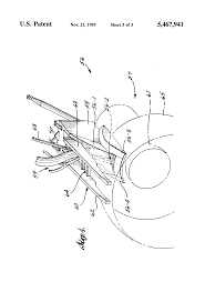 patent us5467941 pylon and engine installation for ultra high by