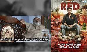 Raid Meme - raid trailer scene from ajay devgn s movie becomes a viral meme