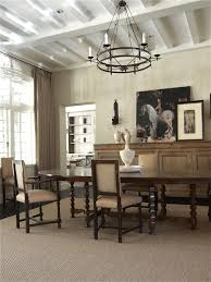 rustic buffet table dining room traditional with area rug beams