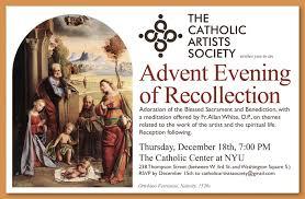 Recollec - advent evening of recollection u2013 thursday december 18 2014