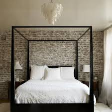 Design Calvin Klein Bedding Ideas Elegant Bedroom Design With Canopy Bed Frame And Exposed Brick