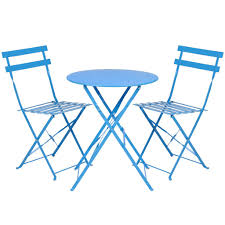 Patio Furniture Bistro Set - best choice products outdoor patio folding metal bistro set table and