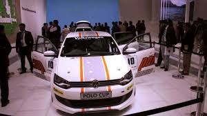 volkswagen race car vw polo revealed for india along with polo cup race version