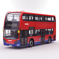 London Bus Interior Bus Enviro 400 3d C4d