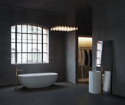 applying a trendy bathroom designs which arranged with a luxury