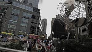 new york december 15 rockefeller center christmas tree on