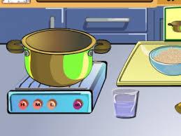 clipart cuisine gratuit spectacle en cuisine poulet grillé assaisonné au riz joue jeux