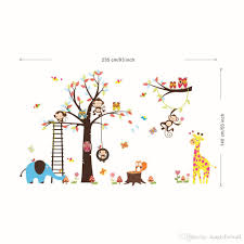 extra large animal family tree wall decal art decor kids room extra large animal family tree wall decal art decor kids room living room nursery decoration art cartoon elephant lion owl mural wall decor cloud wall