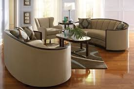 Chair Sets For Living Room Modern Wood Trim Fabric Sofa Chair Set Living