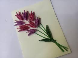 how to make flower card quilling card design