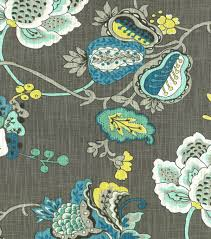 home decor print fabric richloom studio bach aquamarine