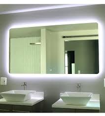 led lit bathroom mirrors backlit bathroom mirror builder line shine mirrors 1 ballers life