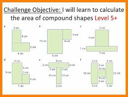 area of composite figures worksheet 7th grade answers area of