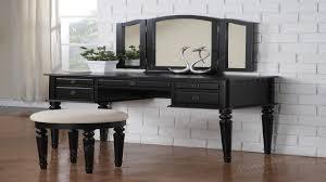 Black Vanity Table Magnificent 90 Bedroom Set With Desk Inspiration Of Top Bedroom