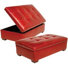 Leather Storage Ottoman Red Leather Storage Ottoman Storage Ideas