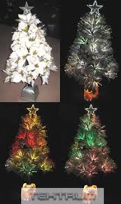 fiber optic poinsettia tree decore