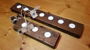 candle runners reclaimed wood tea light candle runners wood company