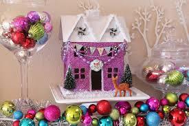 Christmas Home Decor Crafts Glitter Holiday Houses Swell Noel Idea 9 Positively Splendid