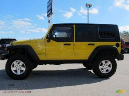 yellow jeep wrangler unlimited 2008 jeep wrangler unlimited rubicon 4x4 in detonator yellow photo