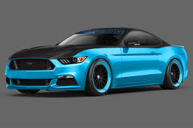 2015 ford mustang 2 3 two modified 2015 ford mustang coupes to sema
