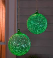 glowing glass garden ornament wind weather