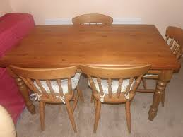 Pine Table Cottage Style Pine Table And 4 Matching Oak Chairs In Gosport