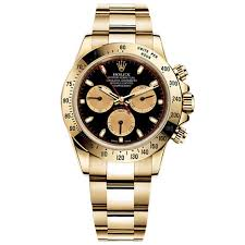 rolex white gold oyster bracelet images Rolex daytona black dial oyster bracelet 18k yellow gold mens jpg