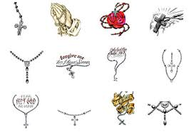 5 rosary tattoo designs samples and ideas