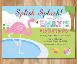 flamingo pool party invitation pool birthday party