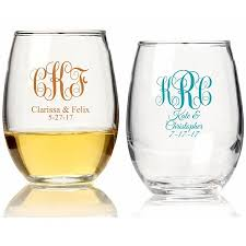 stemless wine glasses wedding favors personalized stemless wine glass wedding favors intertwined