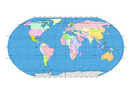 Blank World Map With Lines Of Latitude And Longitude by 144 Free Vector World Maps