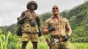 kevin hart the rock pranks kevin hart on jumanji set