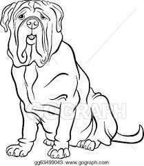 vector stock neapolitan mastiff dog cartoon coloring stock