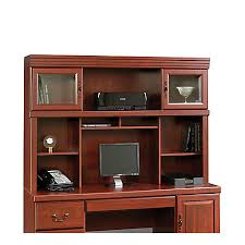 office depot desks sale sauder heritage hill credenza hutch classic cherry by office depot