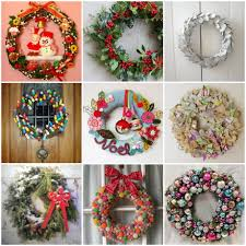 Home Made Christmas Decoration by Homemade Christmas Wreath Ideas Unac Co