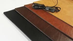 cognac bureau verwarmde bureau onderlegger 65 x 45 cm cognac de warmemat