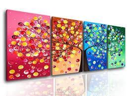 art painting for home decoration amazon com formarkor art kx1657 2016 four seasons tree wall