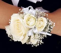 White Rose Wrist Corsage Corsage Boutonniere Archive Memory Lane Floral