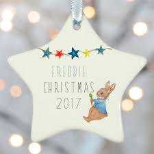 personalised christmas tree decoration u0027s by christening gifts from