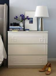 Ikea Filing Cabinet Diy Overlay With Mirror To Spiff Up Ikea Chest Of Drawers See